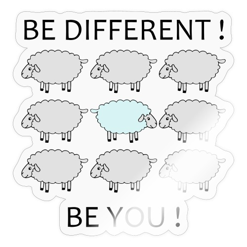 be-different-be-you-t-shi - Autocollant