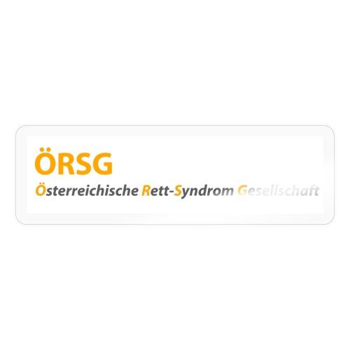 Text-Logo der ÖRSG - Rett Syndrom Österreich - Sticker