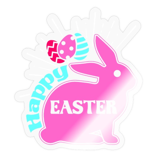 Happy Easter - Frohe Ostern - Sticker