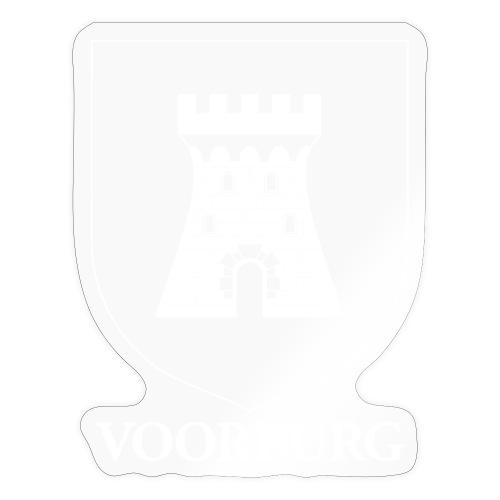 Voorburg wapen diapositief wit - Sticker
