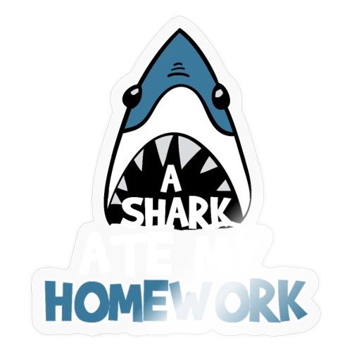 A Shark Ate My Homework - Sticker