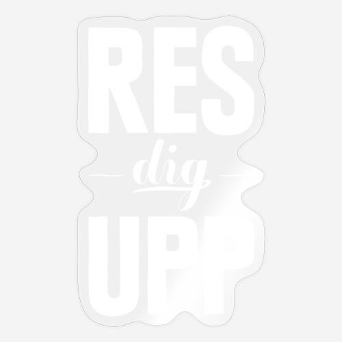 Res dig upp - Klistermärke