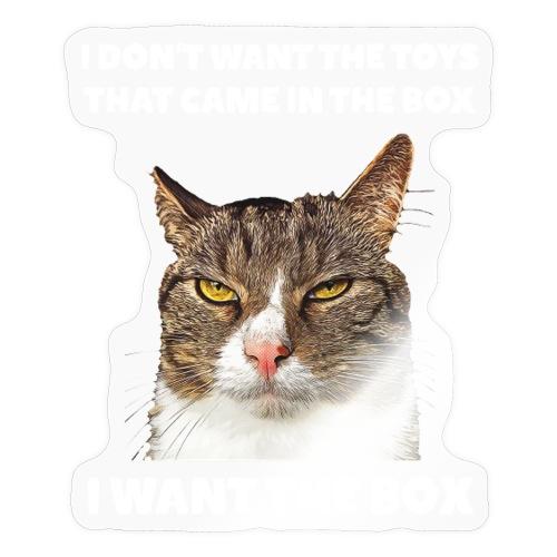Lustige Katze Box grimmig ich will die Kiste - Sticker
