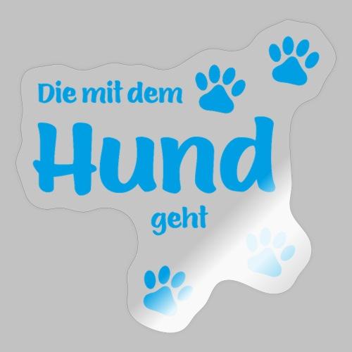 DIE MIT DEM HUND GEHT - BLUE EDITION - Sticker