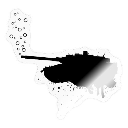soap bubbles splash tank - Black - Sticker