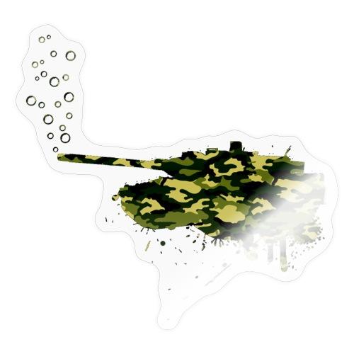 soap bubbles splash tank - Wood Camo - Sticker