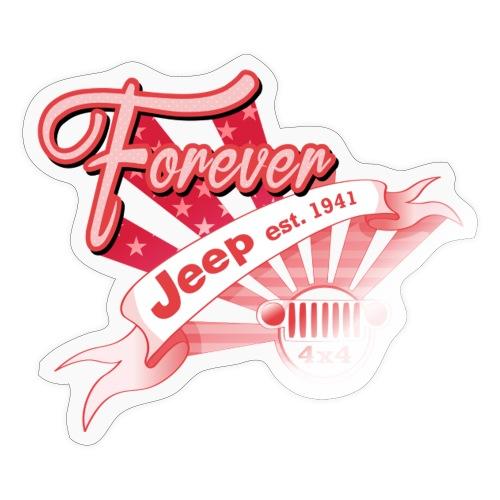 Forever Jeep - Klistermärke
