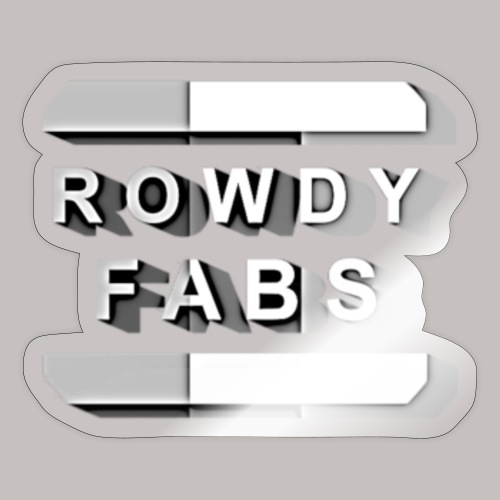 RowdyFabs Logo - Sticker