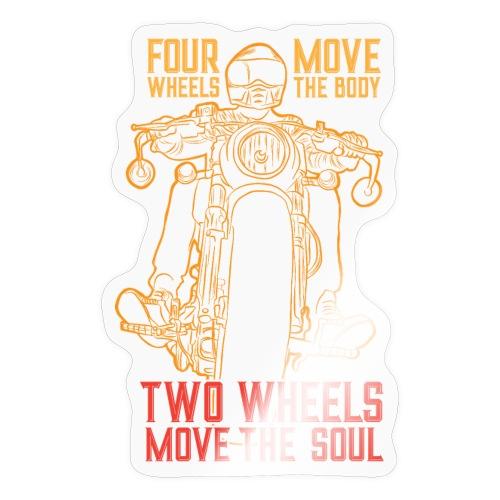 Kaksi pyörää liikuttaa sielua - Tarra