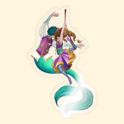 La sirène et la danseuse - Autocollant