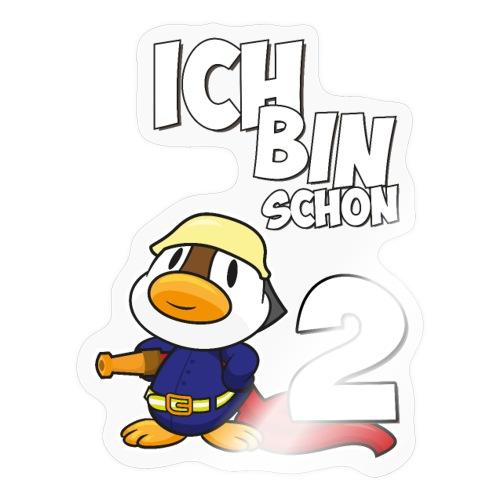 Stolze Feuerwehr Ente 2. Geburtstag Jungen Mädchen - Sticker