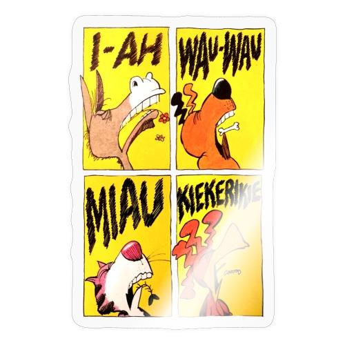 Bremer Stadtmusikanten Comic - Sticker