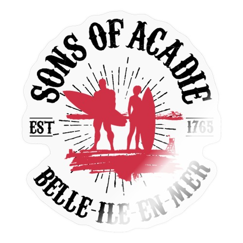 SONS OF ACADIE SURFEURS ROUGE - Autocollant