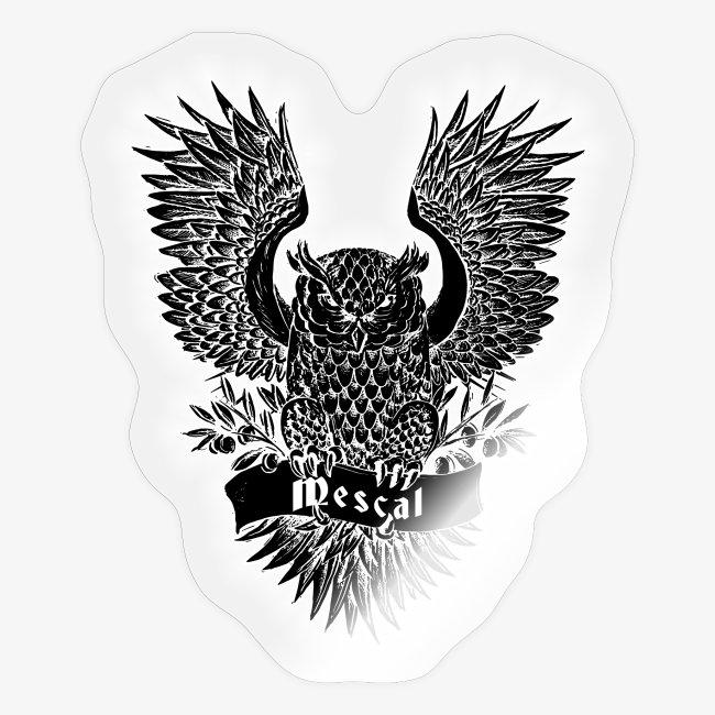 Gufo reale nero - Black Owl - by Mescal