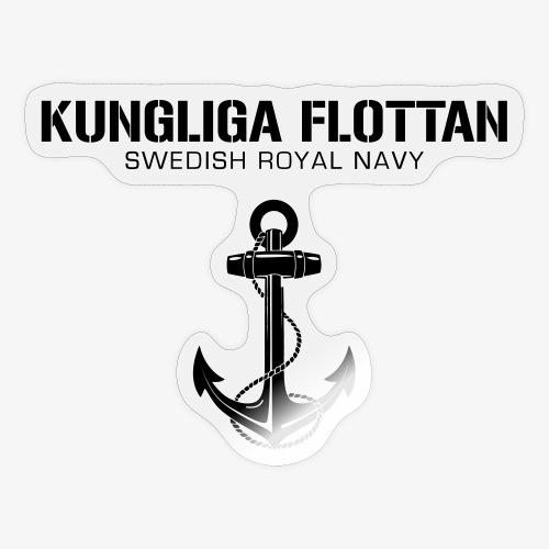 Kungliga Flottan - Swedish Royal Navy - ankare - Klistermärke