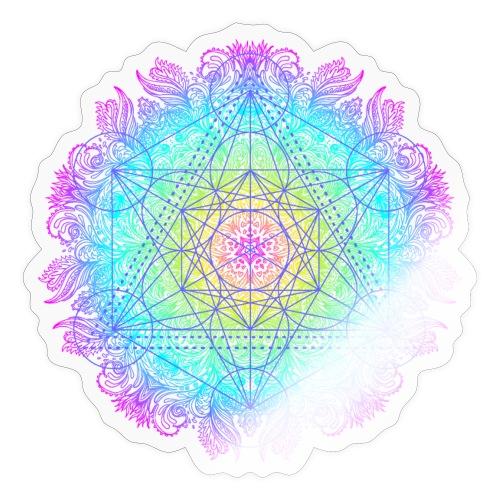 Cube de Métatron , géométrie sacré de l'archange - Autocollant
