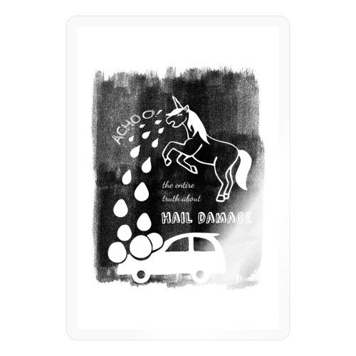 Hagelschaden Poster - Sticker