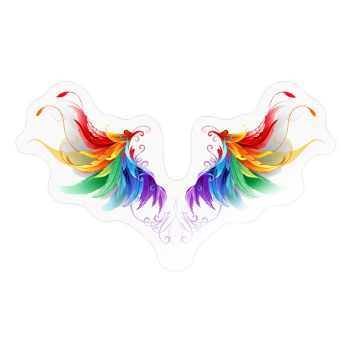 Ailes d'Archanges aux belles couleurs vives - Autocollant
