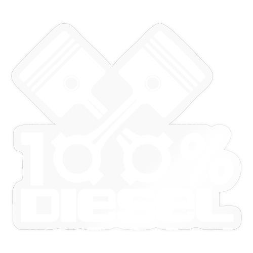 100% Diesel I Dieselholics - Sticker