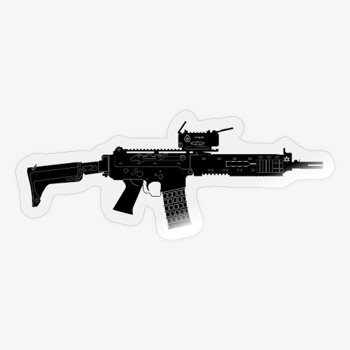 Automatkarbin 5C (Ak5C) - Swedish Assault Rifle - Klistermärke