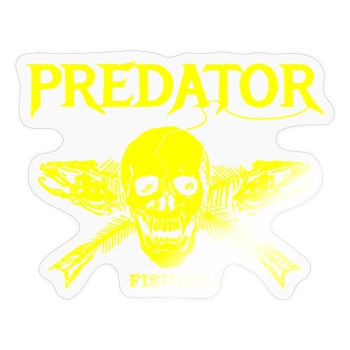Predator fishing yellow - Sticker