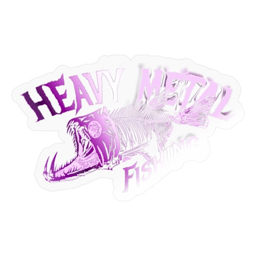 heavy metal pinklogo - Sticker