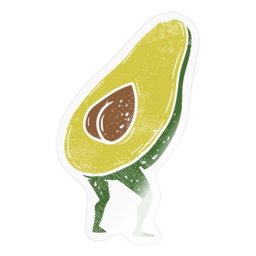 Lustige Avocado Po Frucht - Vegan Guacamole - Sticker