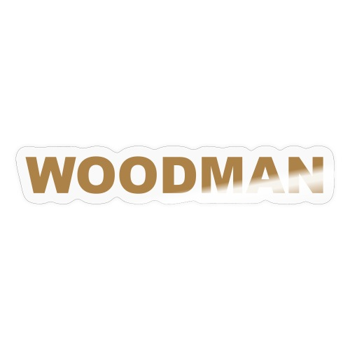 WOODMAN gold - Sticker