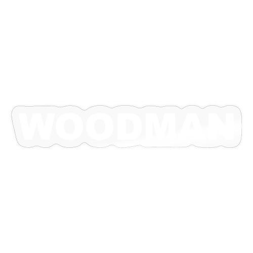 WOODMAN white - Sticker