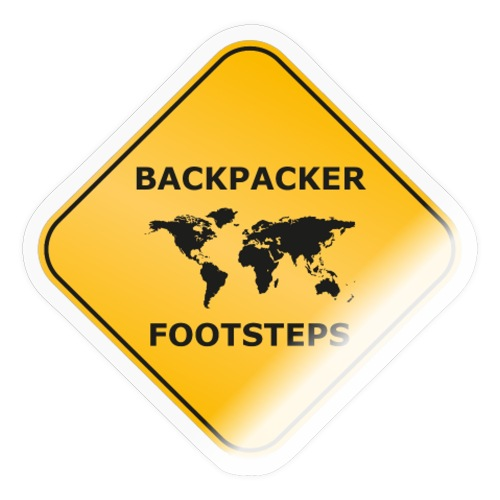 Backpacker Footsteps Logo - Sticker