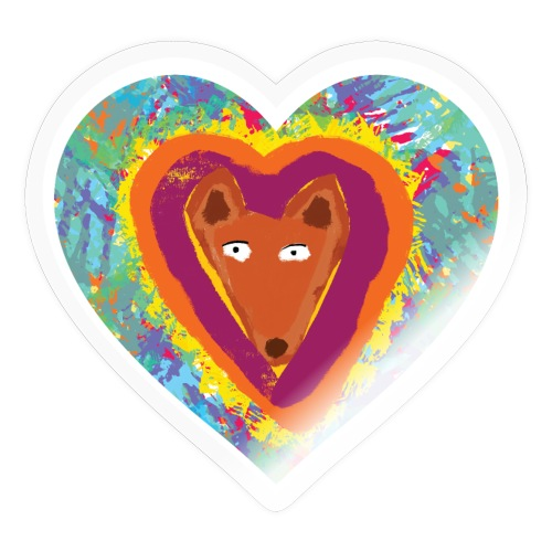 Foxy Heart - Sticker