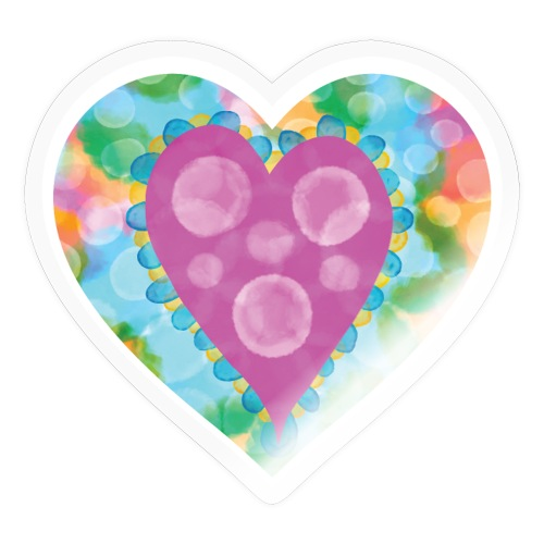 Heart Bubbles make you float - Sticker