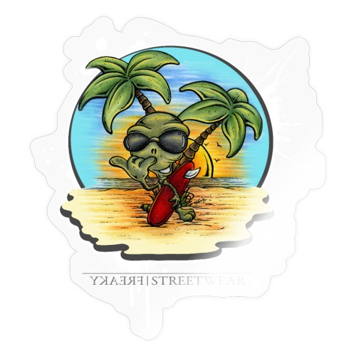 Let's have a surf back home! - Sticker