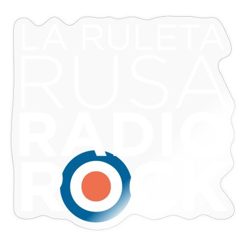 La Ruleta Rusa Radio Rock. Retrato blanco - Pegatina