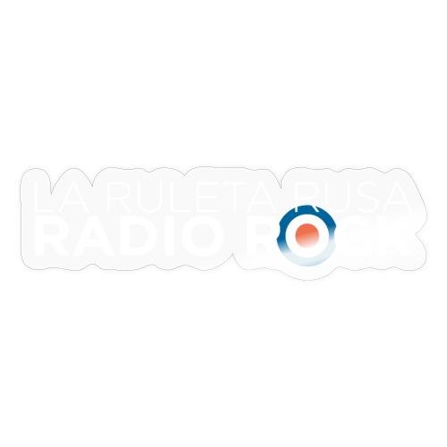 La Ruleta Rusa Radio Rock, Landscape White - Pegatina