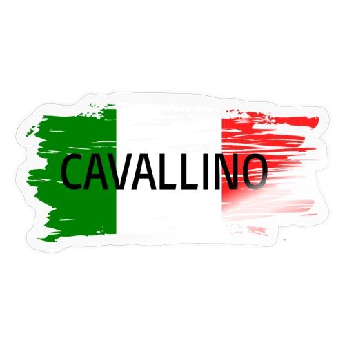 Cavallino auf Flagge - Sticker