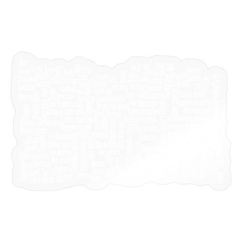 Jackspeak (white) - Sticker