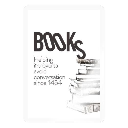 Books - Helping introverts avoid conversation - Sticker