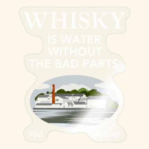 Whisky Is Water lustiger Spruch und Brennerei - Sticker