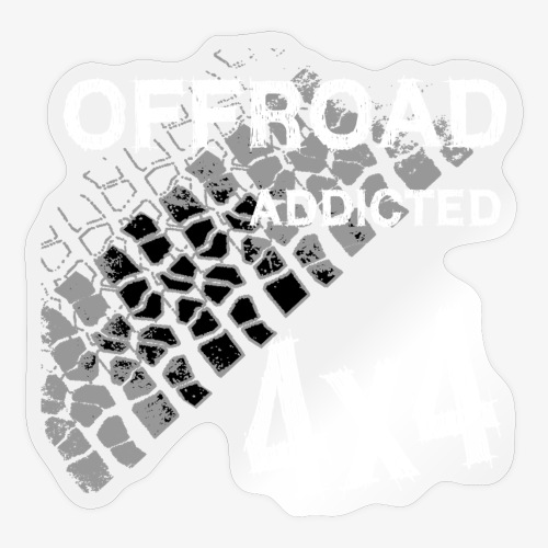 Defender Land-Rover OFF Road White - Sticker