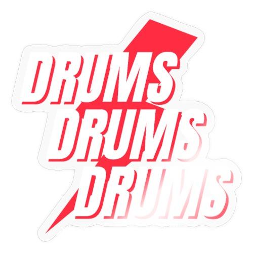 Drummer Schlagzeug Geschenk - Sticker