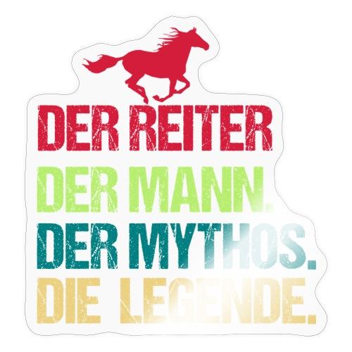 Der Reiter Mann Mythos Legende - Sticker