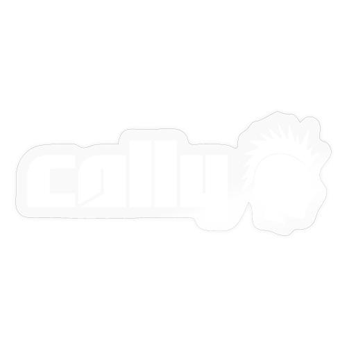 Cally White Logo - Sticker