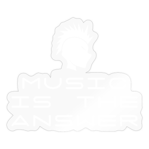 Mohawk Logo - Music is the Answer - Sticker