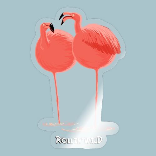 Rollin' Wild - Flamingos - Sticker