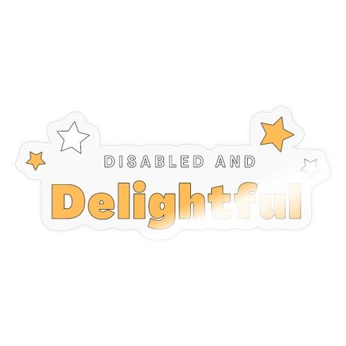 Disabili e delizioso - Adesivo