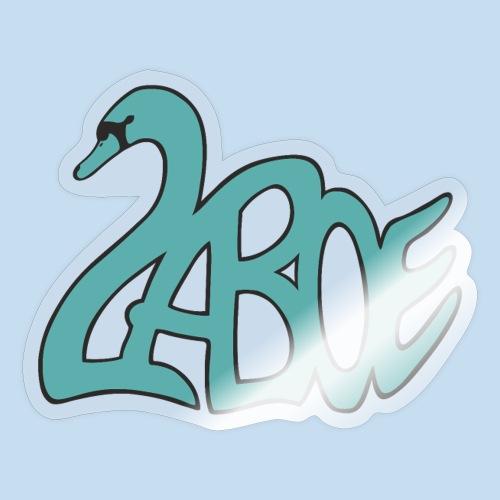 Laboe Schwan türkis - Sticker