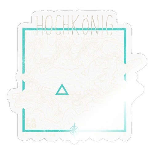 Hochkoenig Contour Lines - Square - Sticker