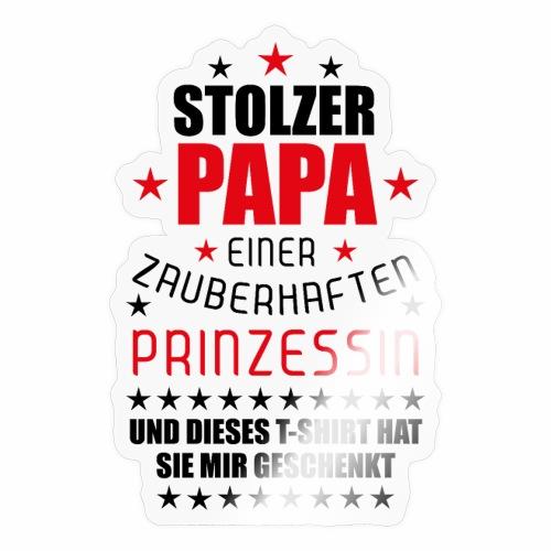 04 Stolzer Papa einer zauberhaften Prinzessin - Sticker