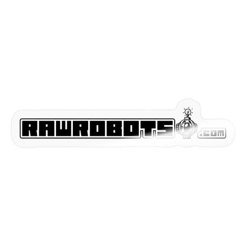 Logo RawRobots (Black Long) - Sticker